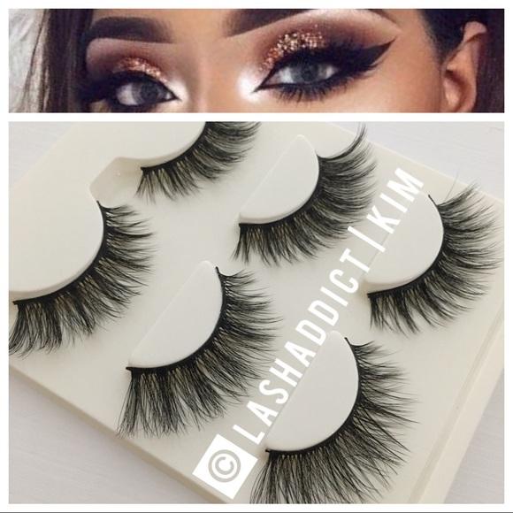 6fcf02b23eb Makeup | 3 Pairs Mink Lashes Eyelashes 3d Glam Fur | Poshmark